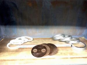 "4-Copper Wide Mouth Mason Jar Thumper Lids Seals /& SS Rings W// 5//8"" Holes"