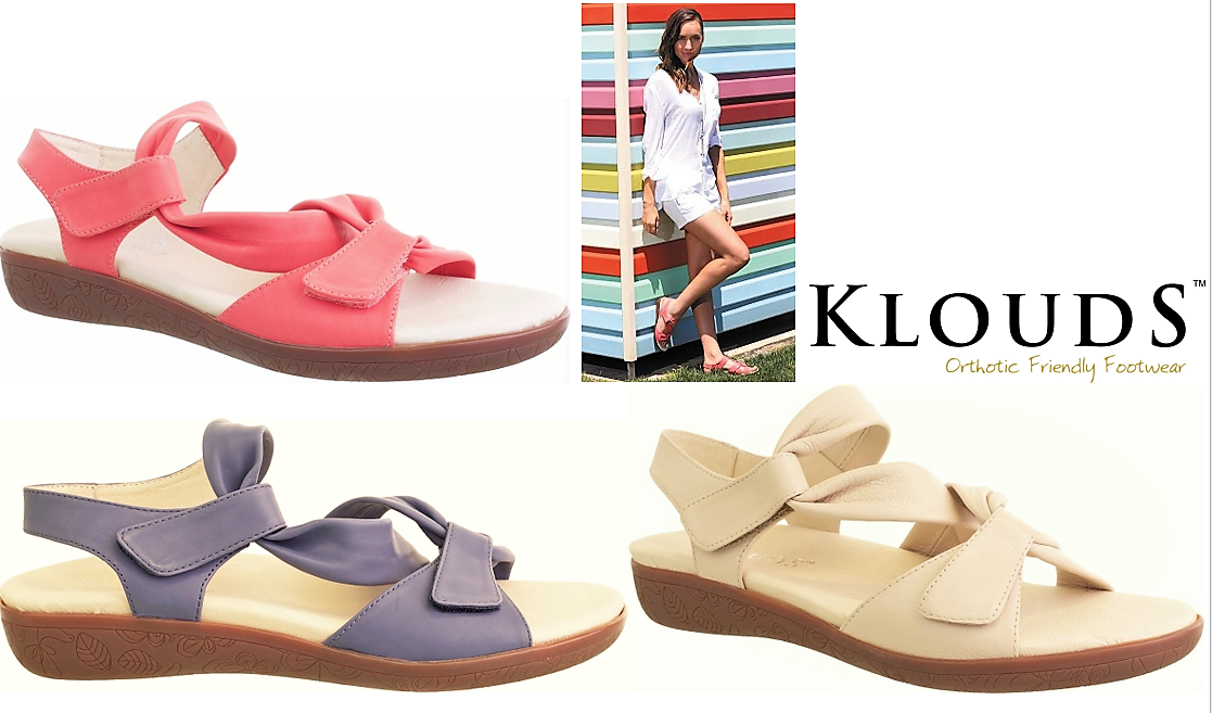Klouds chaussures  Orthotic friendly comfort leather  Sandals - Lisette