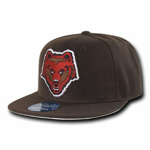 9296008f Details about Brown University Bears NCAA Fitted Flat Bill Baseball Cap Hat