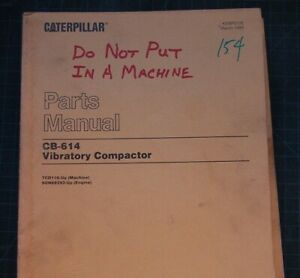 CAT Caterpillar CB-614 Compactor/Roller Parts Manual spare book catalog list OEM