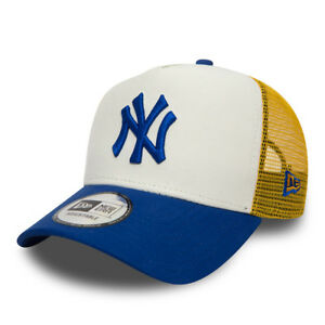 Details about NEW ERA MENS BASEBALL CAP.MLB NEW YORK YANKEES A FRAME MESH  TRUCKER HAT 8W1 18 0765be932df