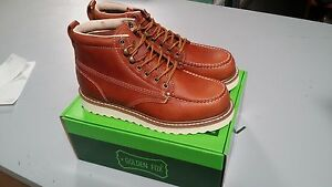 a14b11d212b Details about Golden Fox Oil Full Grain Leather Moc Toe Light Weight  Outsole Work Boot