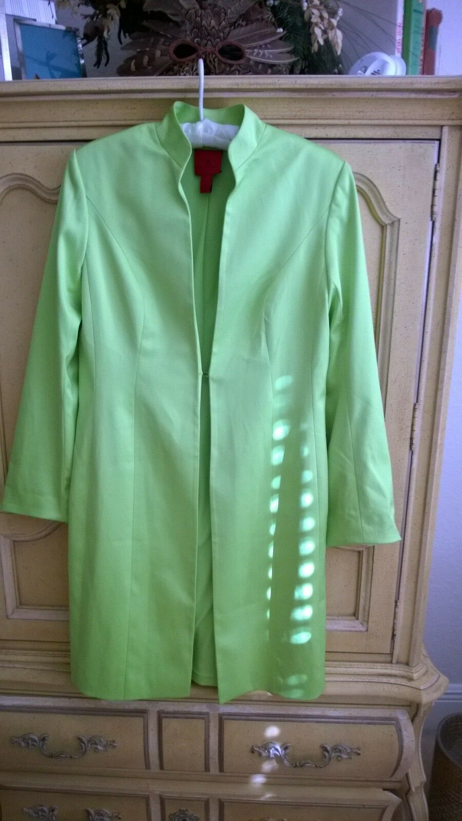 Vintage JS Collectibles Lime Green Occassion Coat Coat Coat  8 742466