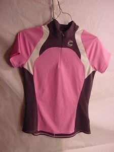 Cannondale-Cycling-Bike-Jersey-Pink-Grey-White-Women-039-s-Size-Medium