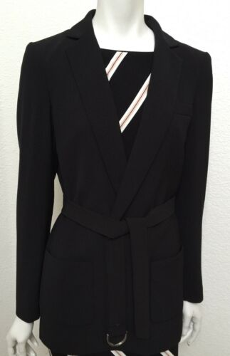 Market House Long White Women's Drapey Jacket 4 Size Black TfxRWwqHp