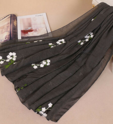 New Fashion Lady Women/'s Long Soft Wrap Lady Shawl Silk