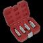 AK65561-Sealey-Magnetico-Bujia-Socket-Conjunto-de-herramientas-de-enchufe-de-unidad-4pc-3-8-034-Sq miniatura 1