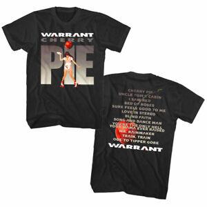 Warrant-Cherry-Pie-Album-Cover-Art-Waitress-Men-039-s-T-Shirt-Rock-Band-Tour-Merch