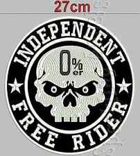 0%er No Club Independent Free Rider  Rückenpatch Aufnäher  Durchmesser 27cm