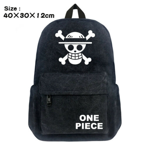High Quality Anime Backpack One Piece OP School Bags Laptop Kids Cartoon Bags
