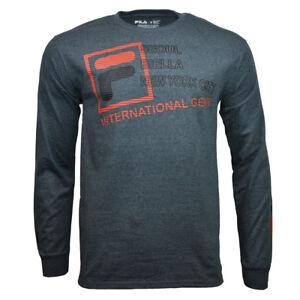 FILA-Men-039-s-T-shirt-Long-Sleeve-SEOUL-BIELLA-NYC-Athletic-Sporty-Apparel