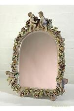 DUSX Floral Shabby Chic Cherub Antique Style Ceramic Table Mirror 36 x 47cm