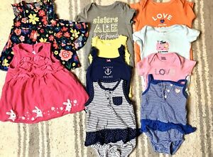 Baby-Girl-3-6-6-amp-9-Months-Clothing-Lot-Outfit-Sets-Dresses-And-Tops