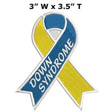 ID 7288 Yellow Ribbon Patch Awareness Sign Badge Embroidered Iron On Applique