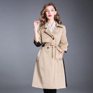 Caricamento dell immagine in corso Giacca-donna-giaccone-cappotto-spolverino -comodo-elegante-beige- 5d49ce7d1cd