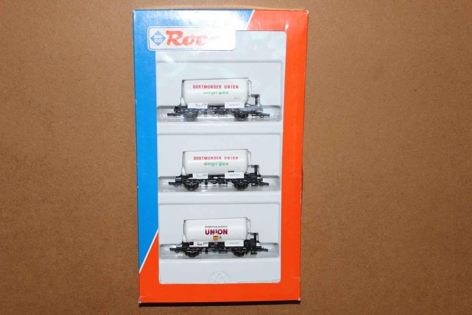 Roco set 44049  3 x wagons citerne bière DB    DORTMUNDER UNION . Ep. IV