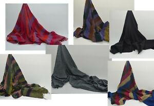 Nepalese-Warm-Yak-Wool-Shawl-Stole-Scarf-Neck-Wrap-Blanket-Throws-Travellers-Rug