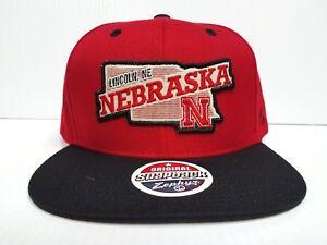 c15f548494b Image is loading Nebraska-Huskers-Zephyr-Cap-Flat-Brim-Snapback-Statehood-