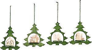Weihnachtsstern Für Tannenbaum.Details Zu Tannenschmuck 4er Set Weihnachtsstern Christbaum Holz Tannenbaum Schmuck Stern