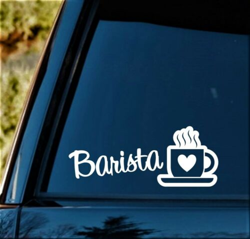 Barista Coffee Cup Decal Sticker for Car Window Starbucks Gift Java Art BG 418