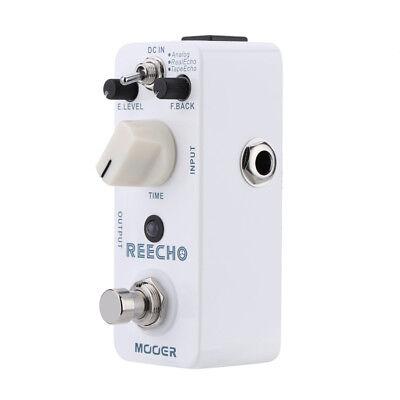 mooer reecho mini digital delay effect pedal for electric guitar true bypass ebay. Black Bedroom Furniture Sets. Home Design Ideas
