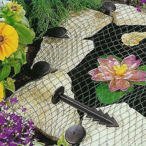 Pond Cover Net - Garden Koi Fish Pond Netting Heron Fox Protector + Pegs