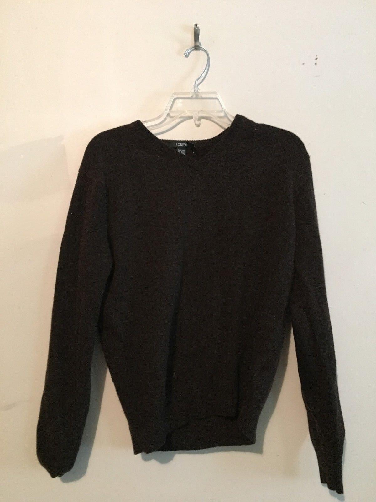 J.CREW Chestnut Brown Wool Cashmere Cashmere Cashmere Angora Blend Women Sweater Top Size S 2f596b