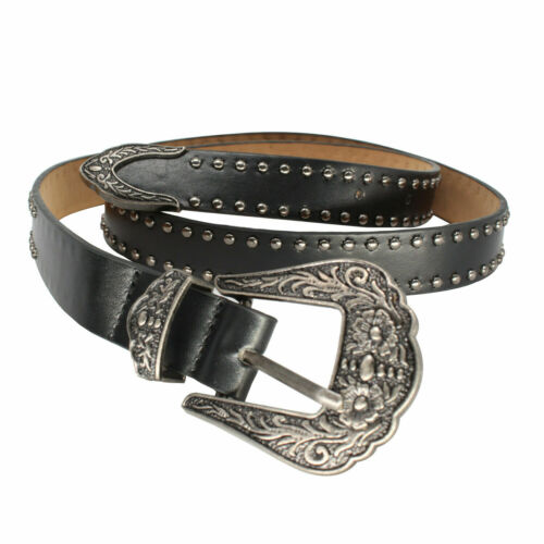 Ladies Women Vintage Style Single//Double Buckle Belt PU Leather for Dresses 25mm
