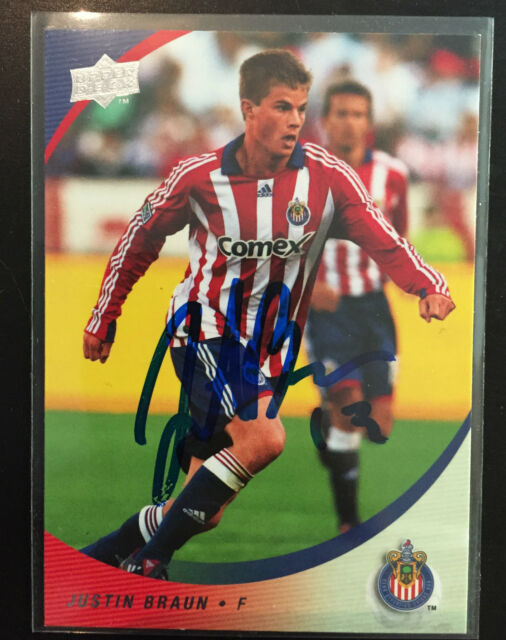 Chivas USA Justin Braun Signed Autographed 2008 MLS UD Card