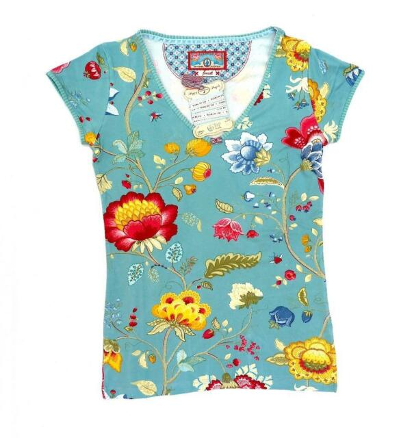 Bnwt Pip Studio Fl Fantasy Short Sleeve Pyjama Top Most Wanted Design Size S