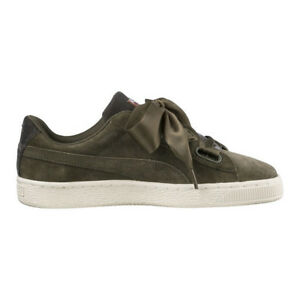 Women s PUMA Wns Suede Heart VR Low Rise Trainers in Green - Size UK ... 891b25b5f