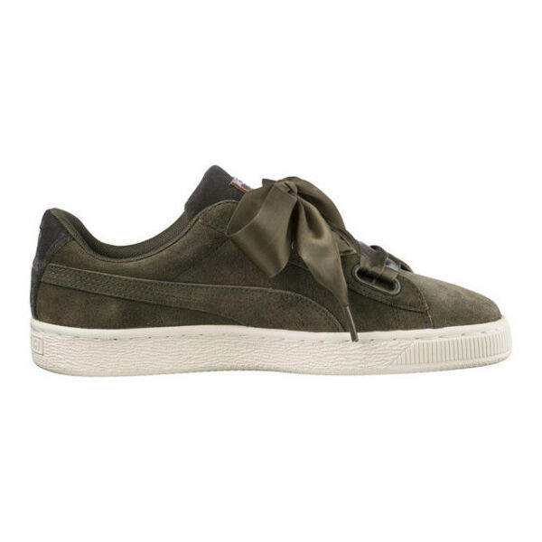 Women s PUMA Wns Suede Heart VR Low Rise Trainers in Green UK 5   EU ... 2bc788f49