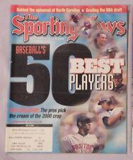 50 BASEBALL BEST PLAYERS JETER MARTINEZ BONDS SOSA GRIFFEY 2000 Sporting News