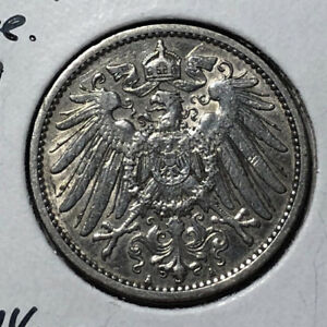 1910-A-Germany-Empire-1-Mark-Silver-Coin