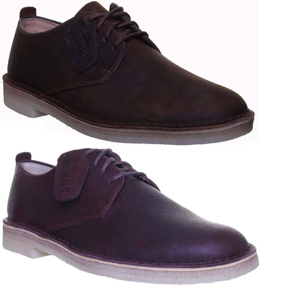 Clarks Office Work Originals Desert London Herren Suede Leder Formal Schuhe