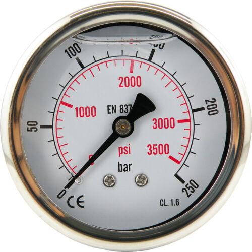 Glycerine Manometer Vertically Horizontally Ø 63 mm Pressure Air Vacuum Pressure