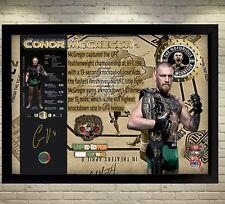 Conor McGregor champion MMA UFC signed autograph Memorabilia picture WITH FRAME