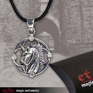 Echt-etNox-Unicorn-Einhorn-Anhaenger-Silber-Gothic-Schmuck-NEU