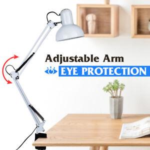 Flexible-Swing-Arm-Clamp-Mount-Lamp-Office-Studio-Home-Table-Desk-Light-Click-on