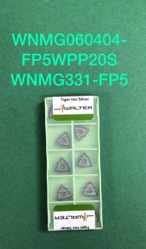 Walter WNMG 331-FP5 WPP20S  Carbide Inserts WNMG 060404-FP5 WPP20S