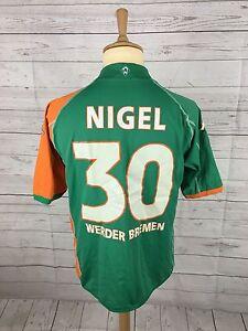 Da-Uomo-WERDER-BREMEN-AWAY-SHIRT-XXL-2006-07-30-Nigel-ottime-condizioni
