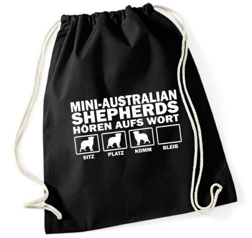 Turnbeutel mini Australian Shepherd oír a la palabra by siviwonder árbol queréis cenizas