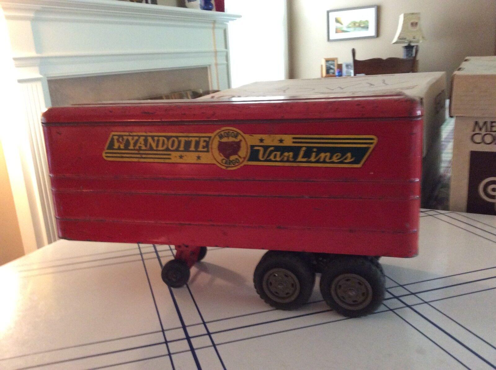 Vintage Wyandotte Moving Van-Pressed Steel Toy Vehicle-Original colors.