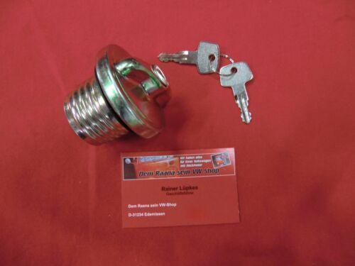 VW Käfer ab 8//72 Tankdeckel Tankverschluss Tank 2 Schlüssel -299