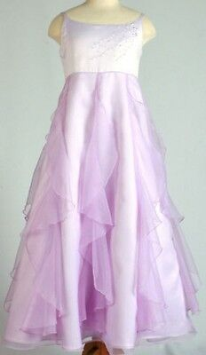 Flower Girls Embroidered Mauve Formal/Party Girl Dress - Sizes 2 4 6 8 10 12 14