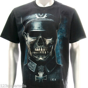 R89 Rock Eagle T Shirt Tattoo Glow In Dark Skull Soldier Street