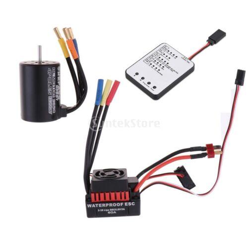 60A ESC 3900KV Brushless Motor Programm Karte für 1//10 RC Auto Wagen