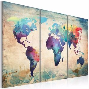 Details about World Map Canvas Art Poster Prints Picture Painting Home on map curtains, cool world map art, map of western united states, gold glass art, map drawing art, united states map art, map of eastern united states, map color art, map framed art, brown abstract art, map home decor, map modge podge art, map mediterranean, map design, diy map art, map art prints, map pencil art, map border art, map wall decals, map food art,