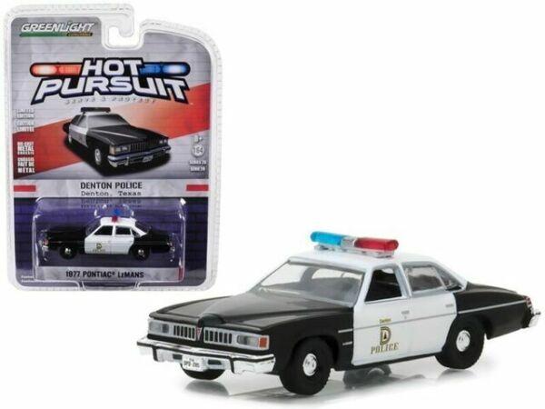 1:64 GreenLight *HOT PURSUIT 31* 1977 Pontiac LeMans ENFORCER POLICE CAR *NIP*