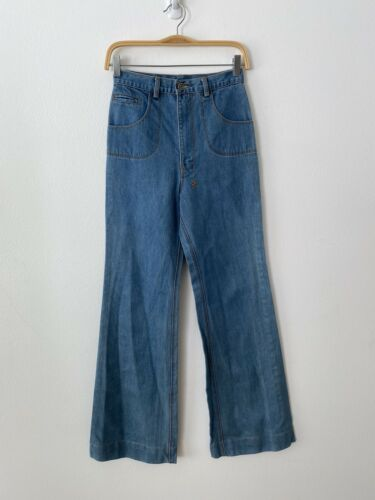 Ksubi High Waisted Wide Leg Blue Jeans Size 26
